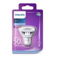 Bec spot LED Philips 4.6W (50W), GU10, lumina rece 6500K, fara intensitate variabila