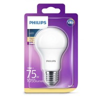 Bec LED Philips 11W (75W), E27, alb cald 2700K