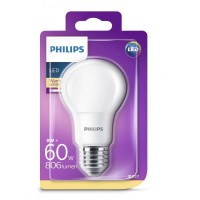 Bec LED Philips 8W (60W), E27, lumina calda 2700k