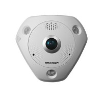 Camera Fisheye IP Hikvision DS-2CD63C5G0-IVS, 4K-ULTRA HD, 12 MP, lentila 1.29mm, Audio si PoE integrat, micro SD