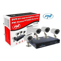 Kit supraveghere video PNI House PTZ800 cu HDD 1Tb inclus - DVR si 4 camere de exterior