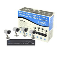 DVR kit supraveghere video PNI House PTZ960H - DVR si 4 camere exterior 800 linii