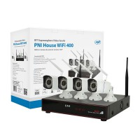 Kit supraveghere video PNI House WiFi 400 NVR si 4 camere wireless, 1.0MP PNI-WF400